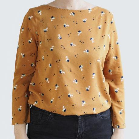 blouse Océan mustard