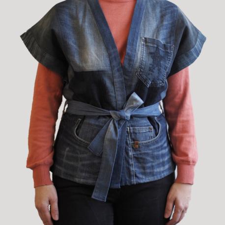 kimono jean surcyclé